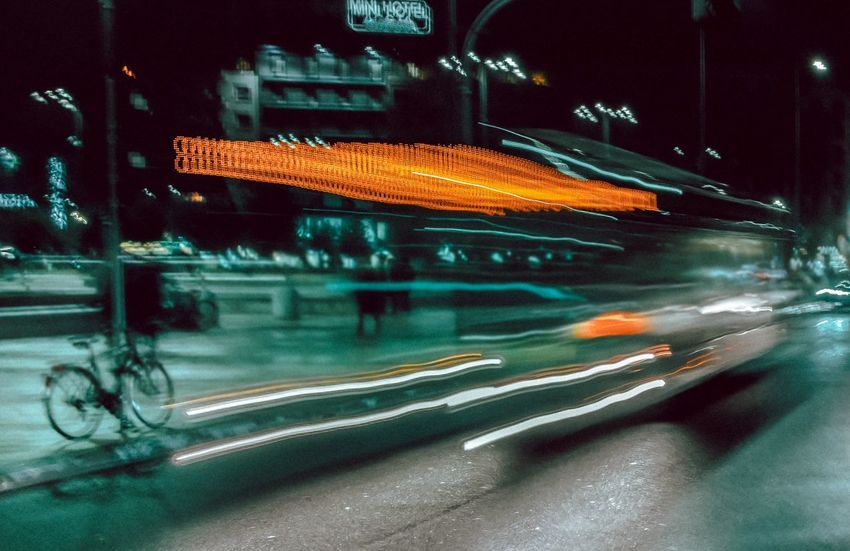 - GOTHAM NIGHTS - Nightphotography The Creative - 2018 EyeEm Awards The Street Photographer - 2018 EyeEm Awards Blurred Motion Car Check Up City Gothams_ambassador Illuminated Light Trail Long Exposure Mode Of Transportation Motion Motor Vehicle Night on the move People Road Speed Street Streetphotography Transportation
