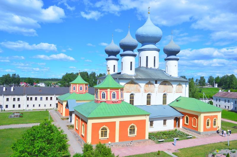 Тихвин Architecture Dome Religion Building Exterior Sky History Cloud - Sky Travel Destinations Outdoors Day No People