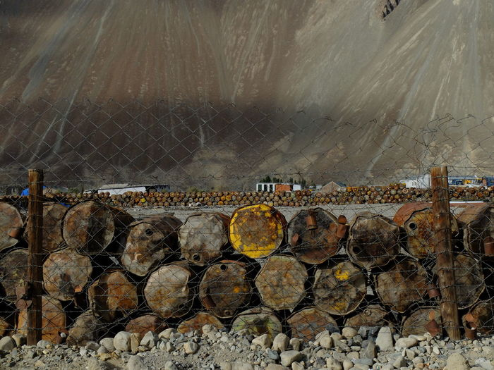 Agriculture Coal Mine Day Gallons Jammu And Kashmir Nature No People Nubra Valley NubraValley Outdoors Rural Scene