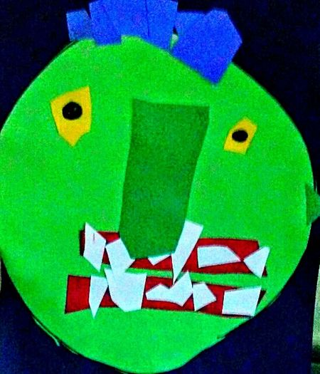 my Granddaughter made me this work of art in her Preschool class the other day! shes 4 and as you can tell pretty darn talented!!!😋😋😋Granddaughter Art My Favorite Piece Masterclass Eyeems Best Monster Art Green Color Multi Colored Vibrant Color Creativity Man Made Object Representation Shapes And Color TakeoverContrast The Week On EyeEem LOUD AND PROUD Original Photography Creativity Colorful Close-up Teeth! EyeEm Photo Of The Day Halloween EyeEm Ubu&I'llbme Overnight Success Maximum Closeness