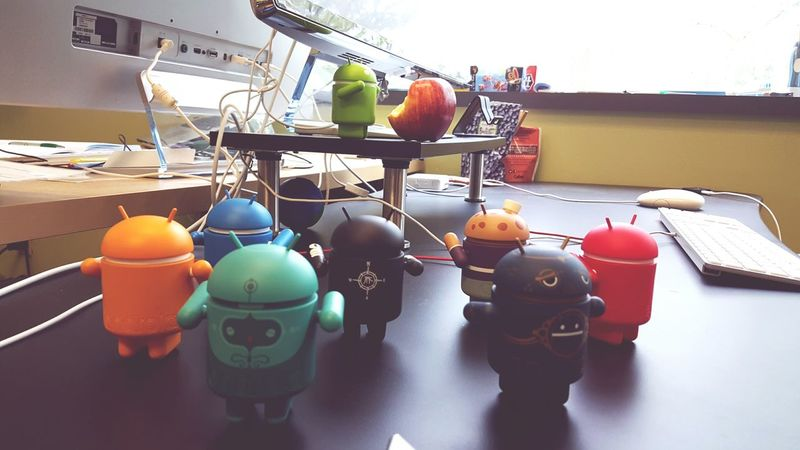 Desks From Above Programmers Nerds Android Funny Fun At Work Apple Lol :) Google
