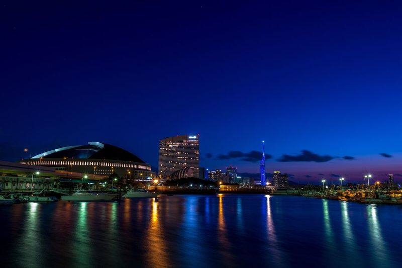Night Illuminated Reflection City Architecture Water Urban Skyline Waterfront Clear Sky Japan Sea My Favorite Place