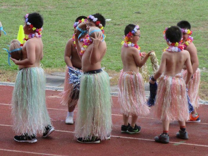 Cute Awkward Moments Shy Boy Dance Show Field Costume Public Place Outdoor Children