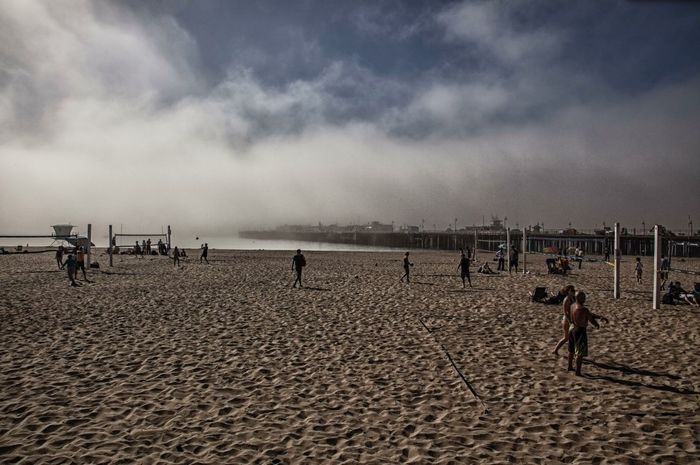Portrait Of America Beach Landscape People Leisure Sports