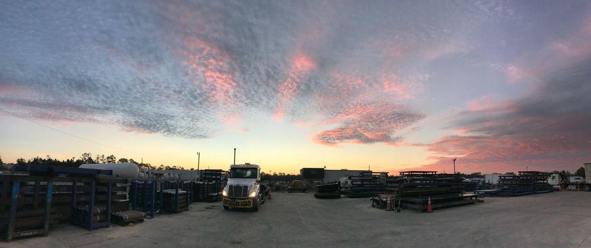 Sky Sunset Cloud - Sky Land Vehicle Mode Of Transportation Nature Transportation