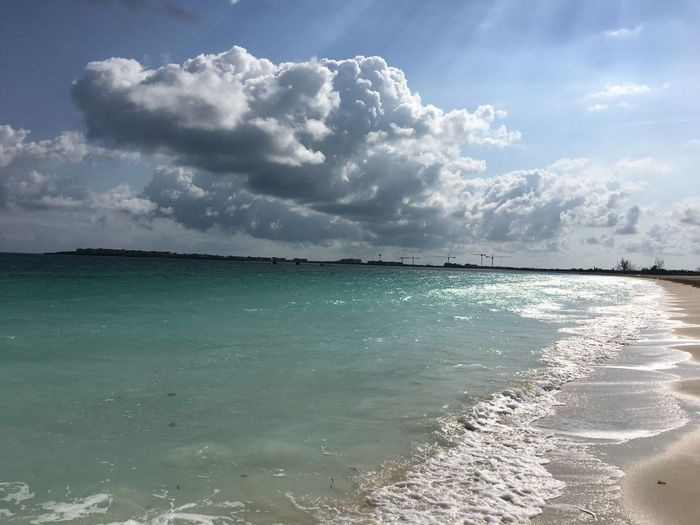 Cloud - Sky Water Sky Sea Beauty In Nature Scenics - Nature Land Nature Tranquil Scene Beach Tranquility Day Sunlight No People Outdoors Horizon Idyllic Horizon Over Water Travel Destinations