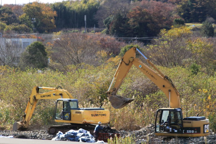 Excavator Japan Photography Japan Construction Machinery Construction Industry