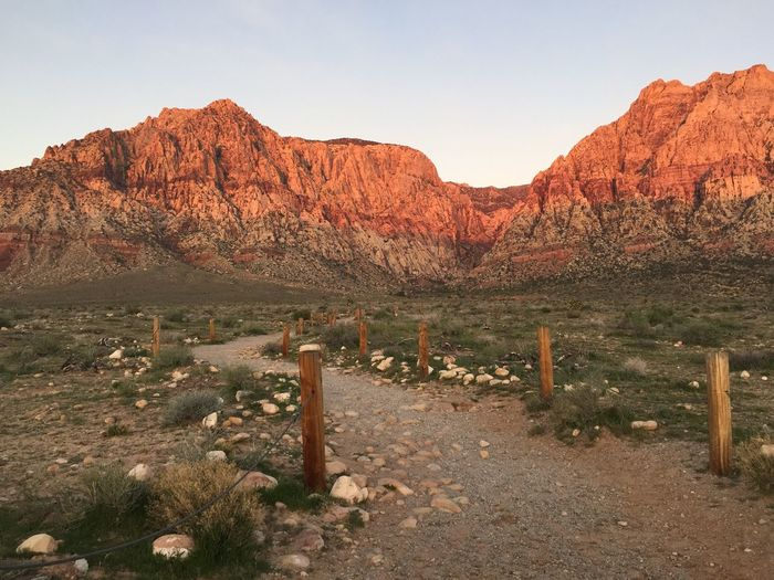 Dirt Road Leading Towards Red Rock Canyon National Conservation Area