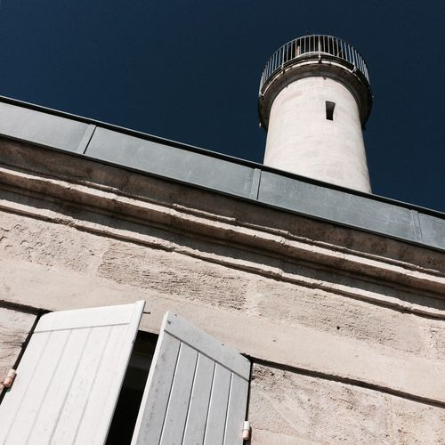 2017 Architecture Low Angle View Built Structure Building Exterior No People Clear Sky Sky Blue Sky Lighthouse Phare Richard Gironde Cote D'argent Médoc
