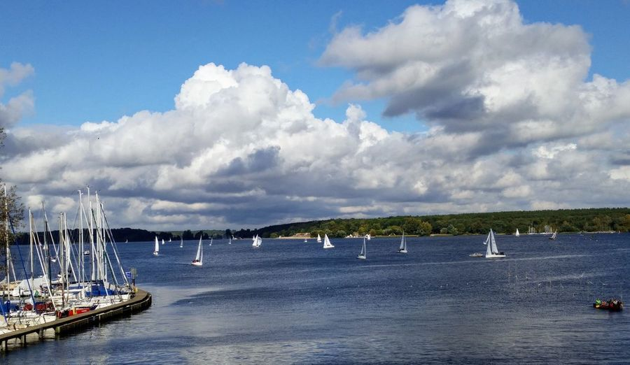 Wannsee Berlin Berliner Wannsee Sea Nautical Vessel Beach Cloud - Sky Sky Water Outdoors