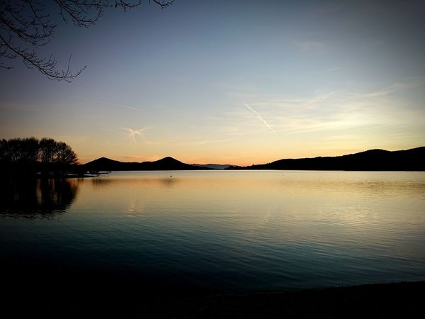 Lake Sky Landscape Sunset Water Tranquility Nature Outdoors Beauty In Nature Blue No People Clear Sky Horizon Over Water Mountain Cielo Naturaleza No Leaves On Tree Naturaleza_euskadi Belleza Tree Vitoria / Gasteiz Sony Xperia X Bask Country Tranquility Be. Ready.