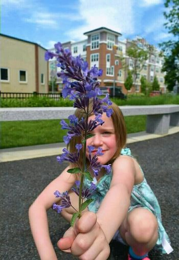 "went for a walk with my 5yr old:) told her to look for Beautiful flowers! turned around & she was holding a giant weed with a smile:) explained to her it was a weed! she stated ""But it's purple:):) Summertime EyeEm Nature Lover Flower Nature Lover Child Summer EyeEm Nature Lovers Children Nature Summer Flowers"