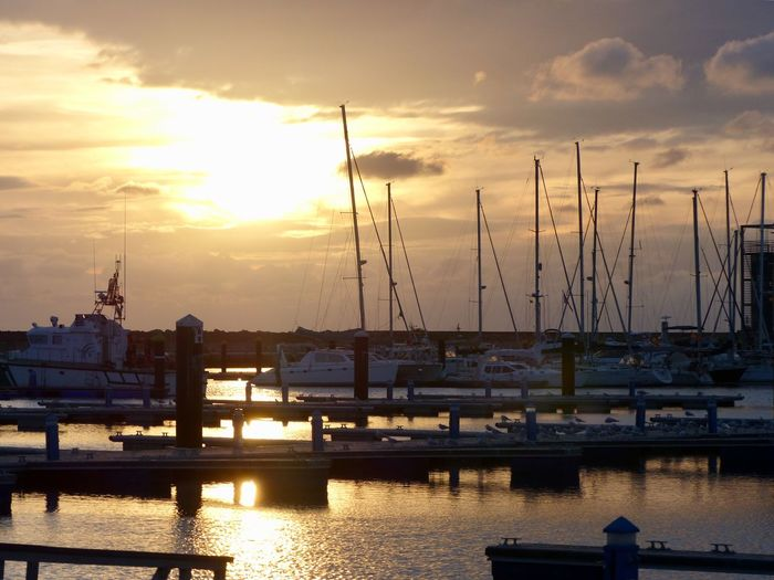Sunset Water Sky Nautical Vessel Transportation Harbor Nature Cloud - Sky Mode Of Transportation Architecture Crane - Construction Machinery Pier Machinery Sea Commercial Dock No People Sunlight Beauty In Nature Silhouette Outdoors EyeEmNewHere