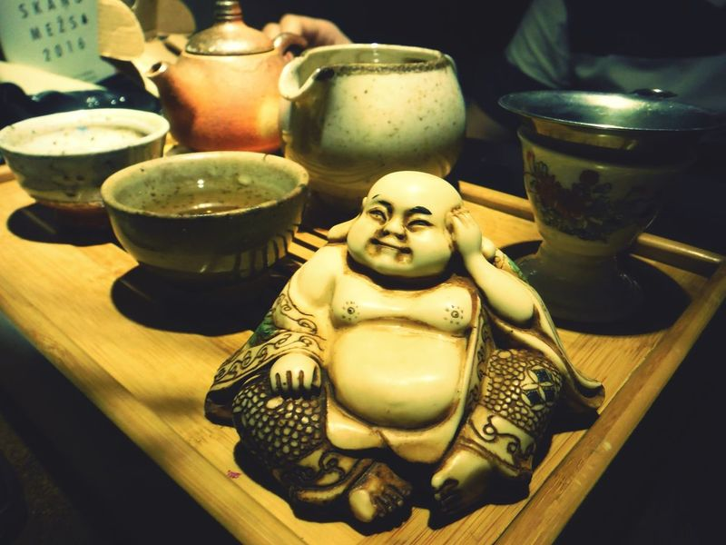 Always Be Cozy Taking Photos Relaxing Check This Out Tea Time Green China Tea Tea Buddha Statue Enjoying Life Tea Lovers Hanging Out