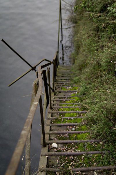Abandoned & Derelict Day Iron Stairs Nature Outdoors Tranquility Water