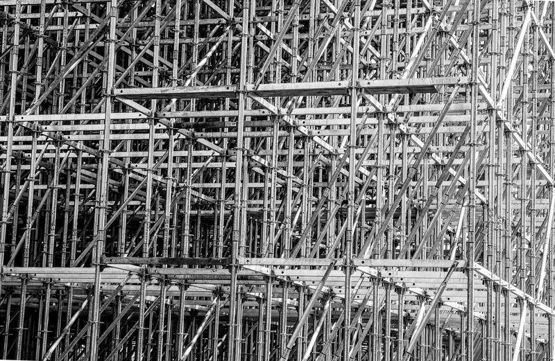 Full frame shot of metallic structure