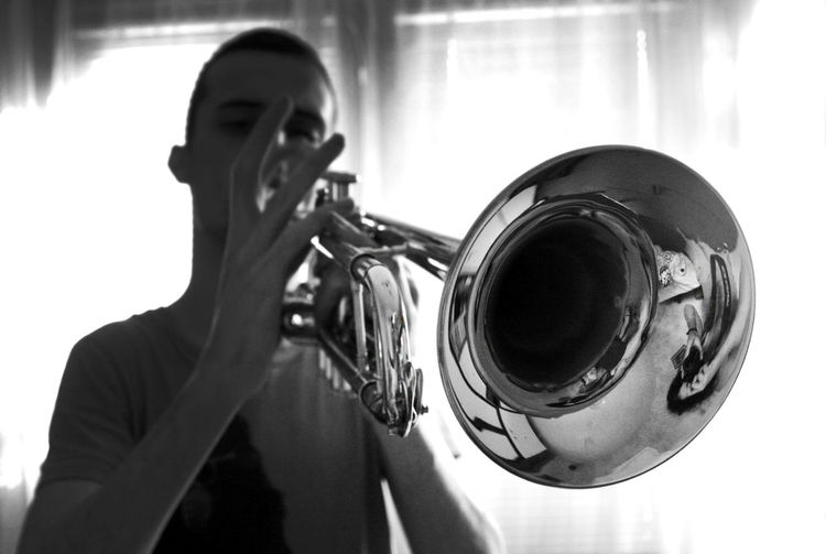 A trumpeter 1 Jazz Jazz Music EyeEm Selects EyeEm Gallery Sound Hands Music Arts Culture And Entertainment Blackandwhite Brass Brass Instrument  Holding Indoors  Men Monochrome Music Musical Equipment Musical Instrument Musical Instruments Musician Musicians Performance Playing Real People Skill  Trumpet Trumpeter Wind Instrument The Portraitist - 2018 EyeEm Awards The Creative - 2018 EyeEm Awards #urbanana: The Urban Playground A New Beginning The Modern Professional A New Perspective On Life Capture Tomorrow 2018 In One Photograph My Best Photo Humanity Meets Technology Analogue Sound