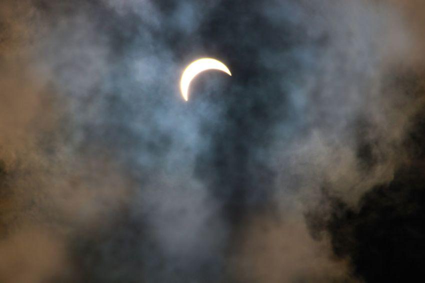 Partial eclipse 2017 Solar Eclipse Sky Astronomy