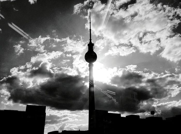 Day 299 - TV Tower Berlin Blackandwhite Architecture TV Tower Cloud 365florianmski 365project Day299