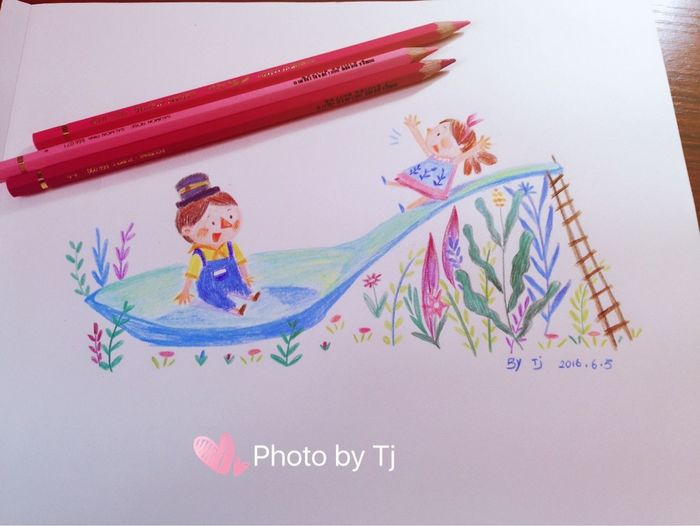 绘本 水彩 Drawing Art, Drawing, Creativity Drawin  Illustration 蜡笔