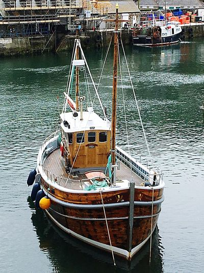 Check This Out From My Point Of View Harbour Moored Boats Mevagissey Mast Wooden Floating On Water