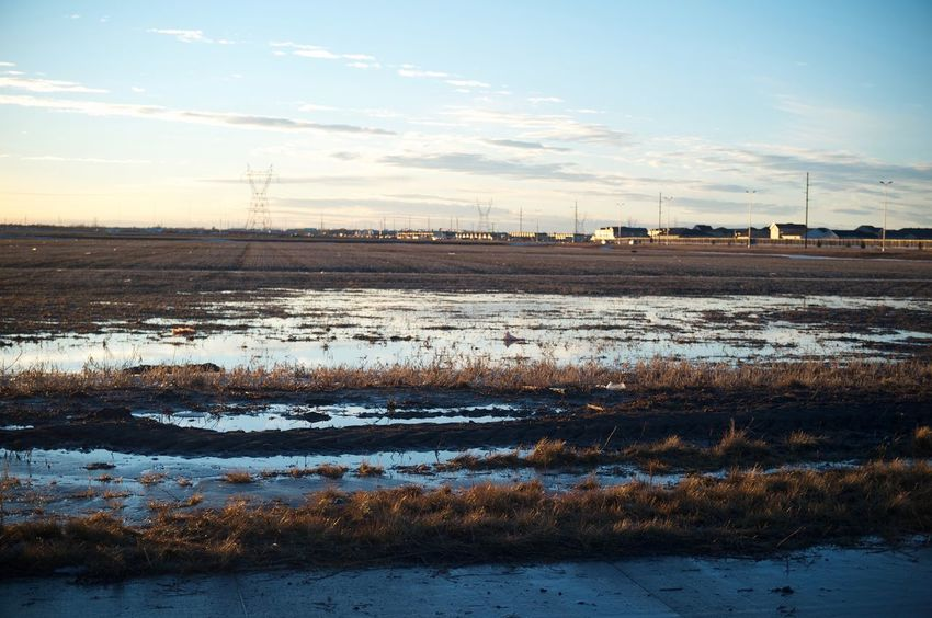 Fargo, North Dakota / February 19, 2016 Distant Fargo Field Grass Growing Growth Lake Landscape Nature No People North Dakota Outdoors Plant Remote Rural Scene Sky South Fargo Tranquil Scene Tranquility Water Winter