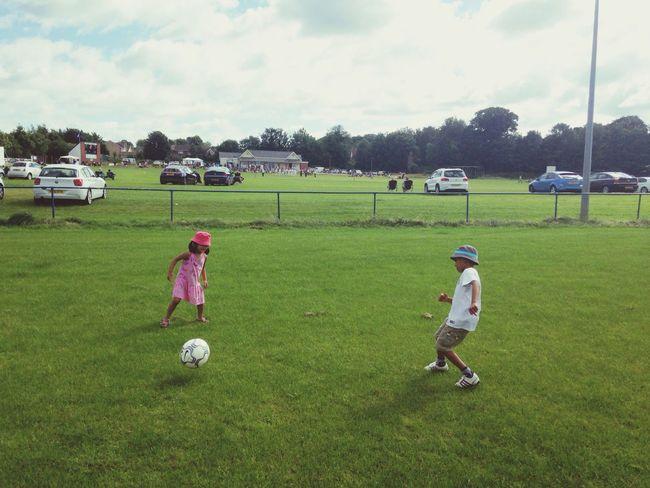 Football Playing Football