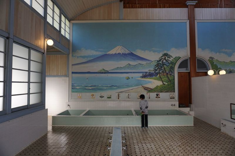 Wall Art Public Sento Bathhouse One Person Architecture Standing Water Building