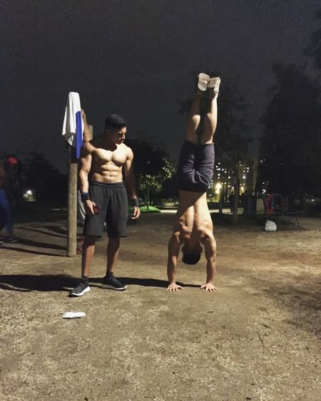 Stay togheter and live forever! Workout Time Brotherhood Calisthenics Streetworkout Power Fitness Fun Happy Stay Positive Handstand  Muscles