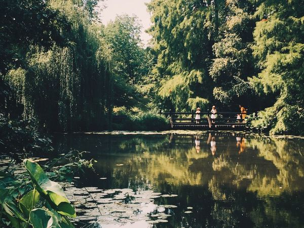 early 1800 england countryside scenery (shot in botanical garden). my favorite. still afternoons, hot and playful. Vscox Vscocam VSCO Tree Nature Water Growth Lake Day Tranquility Real People Beauty In Nature Outdoors Women Forest Togetherness Two People Sitting Men Architecture People Adult