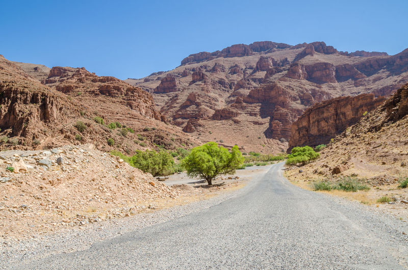 Landscape Scenery Nature Africa African Road Street Morocco Mountain Mountain Range