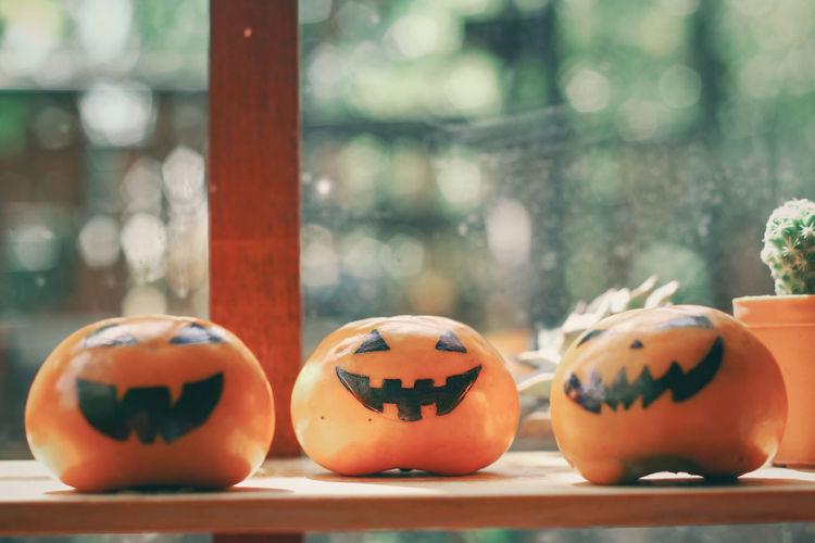 Close-up of pumpkin with pumpkins