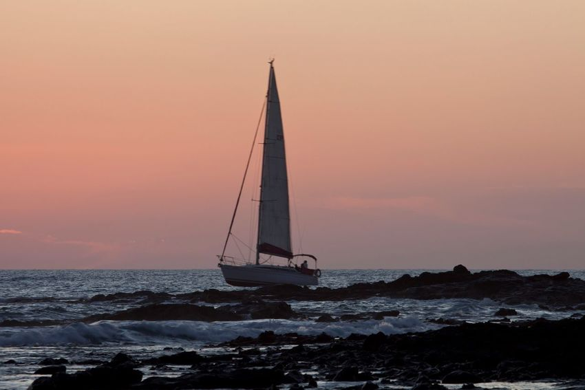 Sea Water Sunset Nautical Vessel Waterfront Sailing Sailboat Sky Transportation Outdoors Nature Beauty In Nature Sailing Boat Scenics Horizon Over Water No People Day