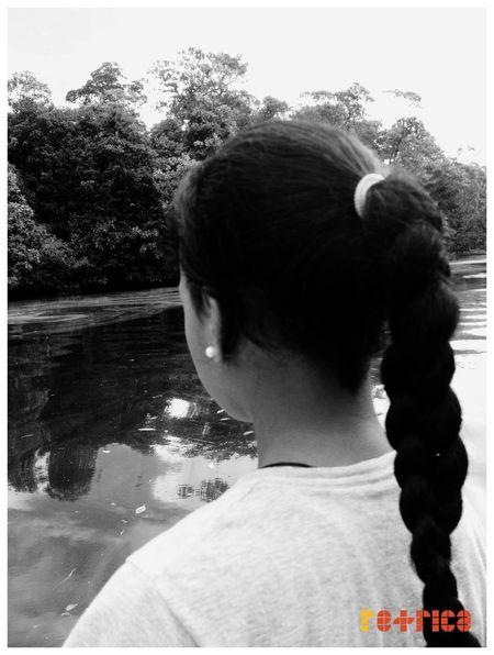 Little Sis 😊 Braided Hair Enjoying Life Gone Fishing Black And White Monchrome Retrica Islandgirl Prettygirl