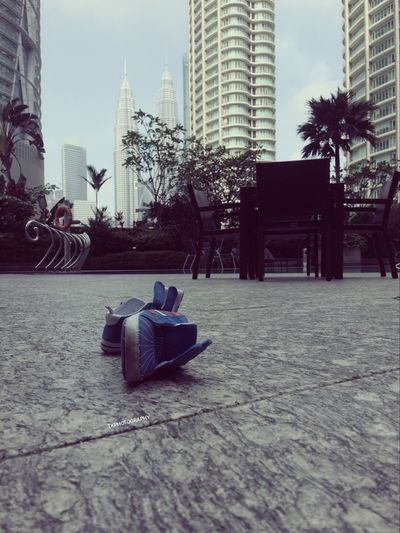 City Skyscraper Architecture Built Structure Building Exterior Outdoors Modern Cityscape From My Point Of View Shoes Shoes For The Day Kuala Lumpur Petronas Towers  Malaysia Photography
