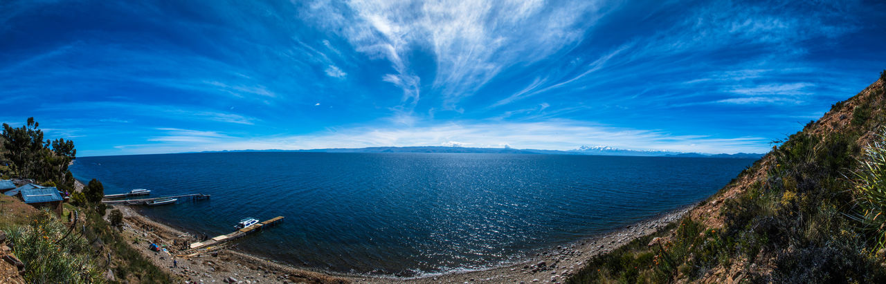 Amazing View Beautiful Nature Blue Sky Isla Del Sol Panorama Peru South America Summertime Titicaca Titicaca Lake Travel Destinations Traveling EyeEmNewHere