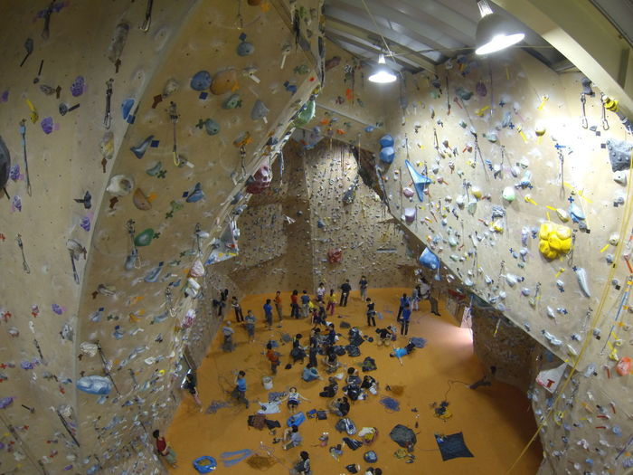 Indoor climbing #climbing Abundance Celebration Confetti Day Directly Above Flooring Food And Drink High Angle View Indoors  Large Group Of Objects Leisure Activity Metal Multi Colored People Puzzle  Rock Solid