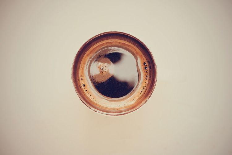 Coffee on beige background