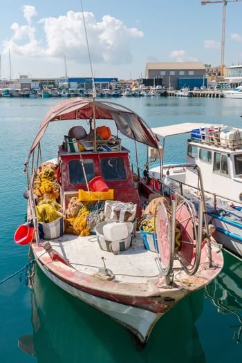 Fishing boat in port, Cyprus, Limassol Cyprus. Limassol Limassol Cyprus Nautical Vessel Transportation Water Mode Of Transportation Moored Sea Day Sky No People Cloud - Sky Outdoors Fishing Boat Fishing Fishing Industry Travel Harbor