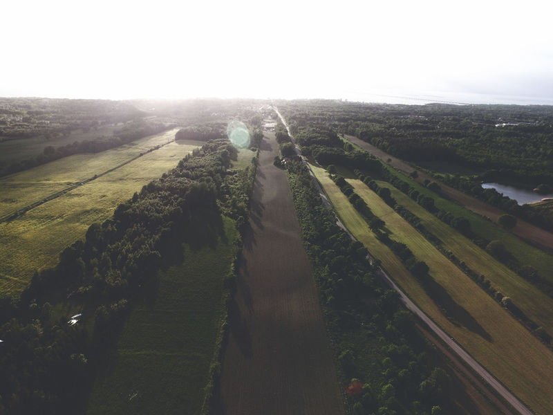 Birdview Dronephotography DJI Phantom 3 Island Field The Sky Is The Limit Sunset Beauty In Nature Nowhere Beautiful Nature Outdoors Sky