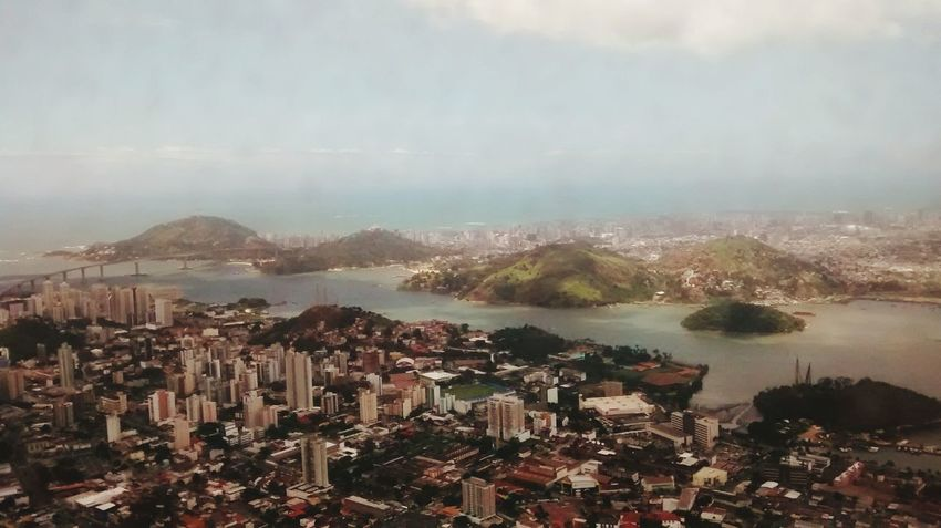 Cityscape City Aerial View Travel Destinations Urban Skyline No People Water Sea Sky Mountain Nature Architecture Day City Life City Joveni Brasil Vitória ES Lifestyles Arrival Beatiful EyeEmNewHere