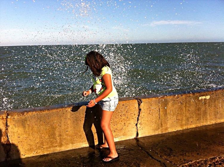 Spash South Texas Rockport Texas Harbor Taking Photos Enjoying Life Beautifulday ☀️ Just Goofing Around ! Water My Baby Girl