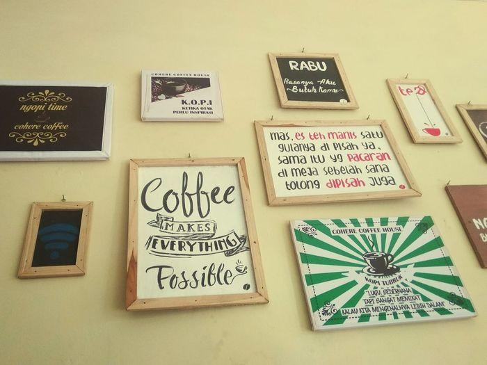 Kedirihits EyeEm Ready   Explore Mojo Kedirinda Coffe Art Look Wall Hug ONET No People Text No People Indoors  Close-up Day
