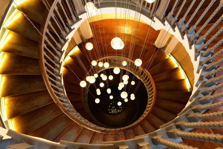 Architecture Indoors  Lights Design Spiral Staircase Concentric Stairs Staircase Brewers Staircase Brewers Spiral Staircase Cecil Brewer Heal's