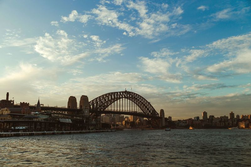 Sunset on Harbour Bridge Architecture Sky Built Structure Water Cloud - Sky Building Exterior Adventures In The City City Waterfront Travel Destinations Cityscape Outdoors