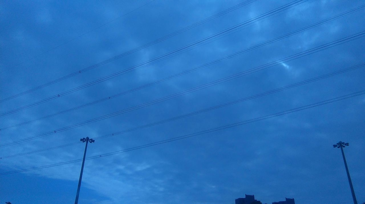 Low Angle View Of Blue Cloudy Sky