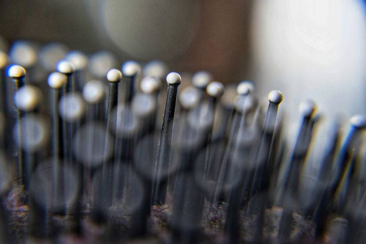 Close-up of hairbrush