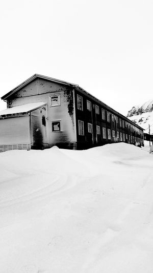 Snowstorm Svalbard  Blackandwhite Photography Urban Landscape Cold At Yo Mammas House