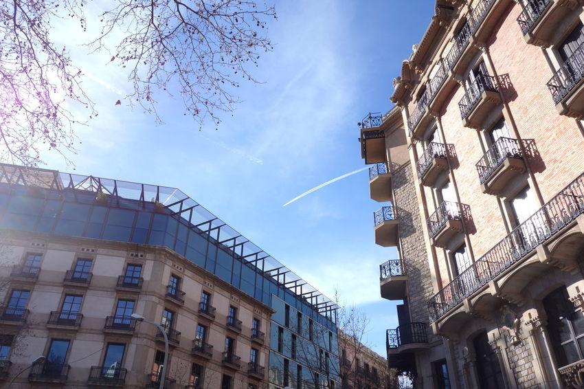 Barcelona City Sky SPAIN Vapor Trail