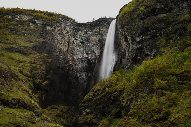 Waterfall Biggest Waterfall In Europe Norway Waterfall Tall - High Rock Formation Travel Destinations Earth Discovering Places Long Exposure Flowing Water